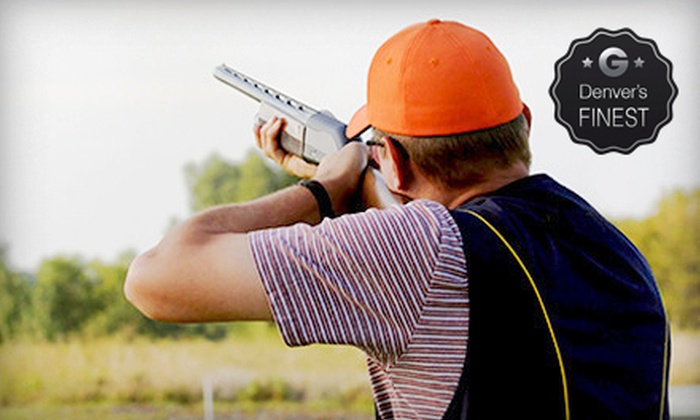 Golden Gun Club - Watkins: 50 Rounds of Sporting-Clay Shooting for Two or Four at Golden Gun Club (Up to 55% Off)