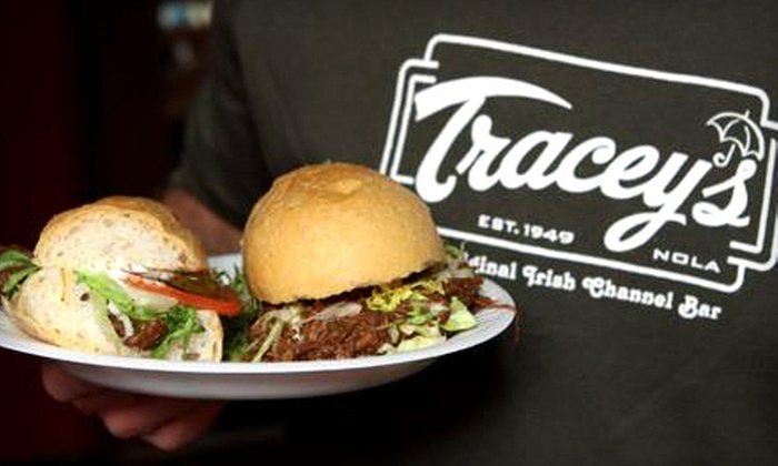 Tracey's Original Irish Channel Bar - Irish Channel: $12 for $25 Worth of Pub Fare at Tracey's Original Irish Channel Bar