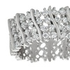 Swirl Pave Cubic Zirconia Eternity Ring in Sterling Silver