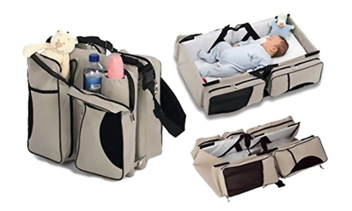 3 In 1 Portable Bassinet Diaper Bag And Changing Station
