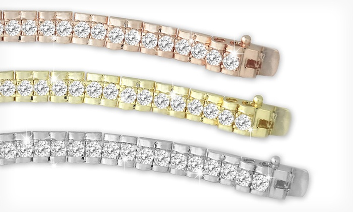 Faux-Diamond Tennis Bracelets & Earrings: Cubic Zirconia Jewelry (Up to 88% Off). Six Options Available. Free Shipping on Orders of $15 or More; Free Returns.