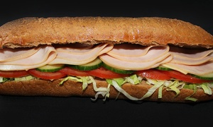 Sam Sub: CC$18 for a Three-Visit Punch Card, with Each Punch Good for C$10 Worth of Sandwiches at Sam Sub (CC$30 Value)
