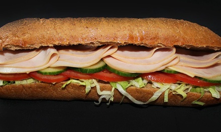 $18 for a Three-Visit Punch Card, with Each Punch Good for $10 Worth of Sandwiches at Sam Sub ($30 Value)