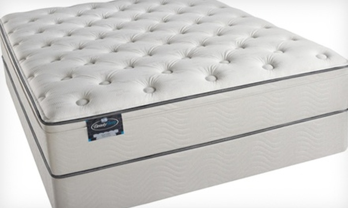 Atlantic Bedding and Furniture - Northwest Raleigh: Twin, Full, Queen, or King Simmons East Lake Euro Plush Mattress Set at Atlantic Bedding and Furniture (Half Off)