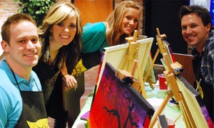 The Thirsty Brush: One 2.5-Hour Social Painting Class for One or Two at The Thirsty Brush (Up to 50% Off)