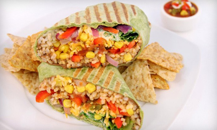 Fit For Life - Downtown Vancouver: Meal for Two or Four with Signature Wraps and Drinks at Fit For Life (Up to 57% Off)