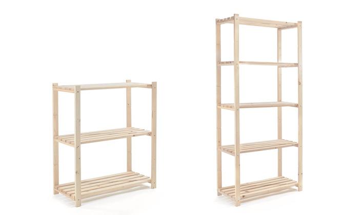 Scaffale in legno abete in kit prezzo - Scaffali in legno ikea ...
