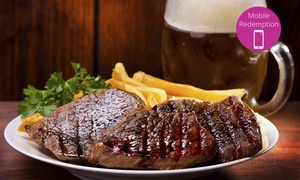 Moa's Nest Cafe Bar: Steak and Pint of Beer for One ($15), Two ($29) or Six People ($85) at Moa's Nest Cafe Bar, Mt Albert (Up to $150 Value)