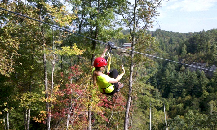 Red River Gorge Zipline - Campton: Two-Hour Zipline Tour for One or Two with Camera Rental at Red River Gorge Zipline (Up to 55% Off)