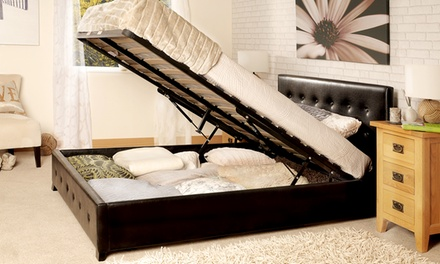 sorrento upholstered ottoman bed frame