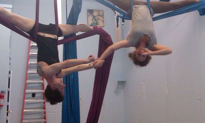 Aerial Space - Asheville: Two Aerial Circus-Arts Classes for One or Two or One-Hour Private Lesson for Up to Four at Aerial Space (Up to 53% Off)
