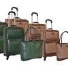 Adrienne Vittadini Snake Embossed 4-Piece Luggage Set