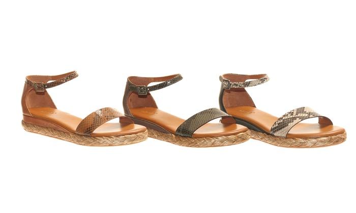 Nicole Ponder Espadrille Sandals: Nicole Ponder Espadrille Sandals with Leather Upper. Multiple Colors Available. Free Returns.