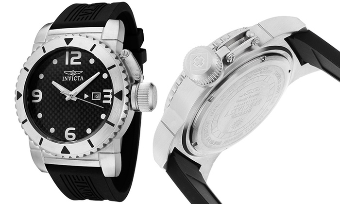 Men's Carbon Fiber Dial Watch by Invicta II: $74.99 for Men's Carbon Fiber Dial Watch by Invicta II ($595 List Price). Multiple Colors. Free Shipping and Returns.