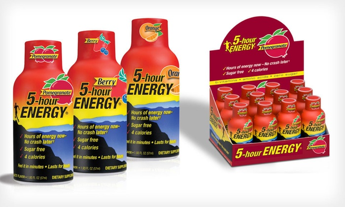 5-Hour ENERGY 24-Pack: $34 for a 24-Pack of 5-Hour ENERGY ($59.96 List Price). Three Flavors Available.