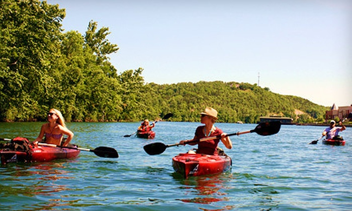 White River Kayaking & Outdoors - Branson: Two-Hour Kayak Rental for Two or Four-Hour Kayak Rental for Four from White River Kayaking & Outdoors (Up to 75% Off)
