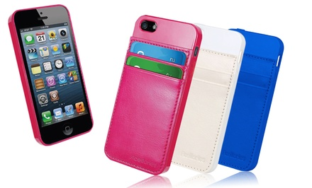 TPU iPhone 5/5s Cases with Card Slots. 2-Pack.