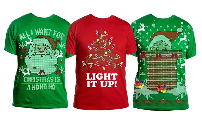 mens diy ugly christmas t shirt - Ugly Christmas Tee Shirts