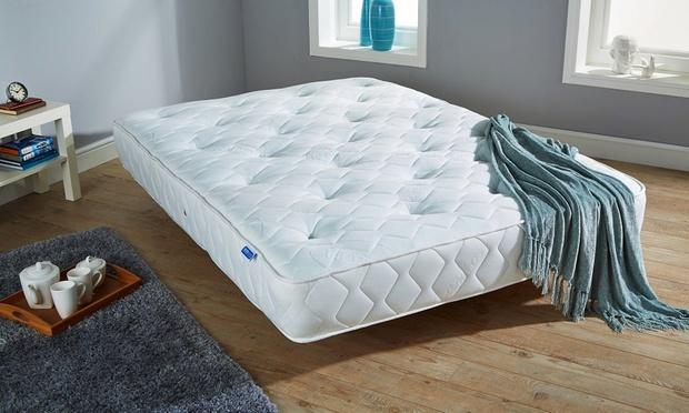 Caxton Cool Blue Luxury Bonnell Sprung Memory Foam Mattress