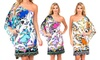 Women's One-Shoulder Floral Dress: Women's One-Shoulder Floral Dress