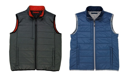Men's Vantage Reversible Quilted Vest. Multiple Colors Available.