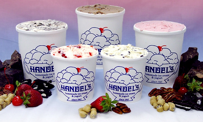 Handel's Homemade Ice Cream & Yogurt - Multiple Locations: $9 for Two Groupons, Each Good for $8 Worth of Ice Cream at Handel's Homemade Ice Cream & Yogurt ($16 Total Value)