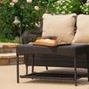 Vivaldi Outdoor Wicker Love Seat and Table Set