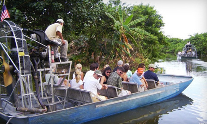 Half Price Tour Tickets - City Center: $27 for an Everglades Airboat Tour and Wildlife Show from Half Price Tour Tickets in Miami Beach ($55 Value)