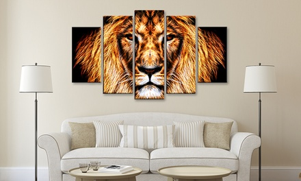 Multi-Panel African Animal Art Prints on Gallery-Wrapped Canvases