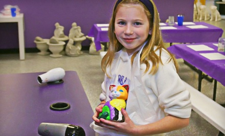 $20 Groupon for Paint-Your-Own Pottery - The Painted Penguin in Buford