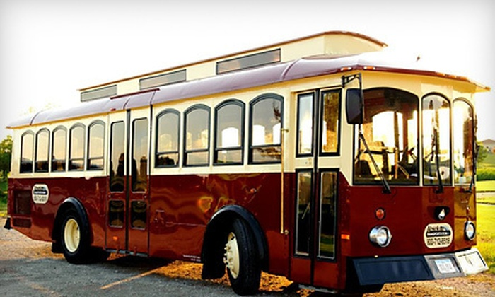 P.R. Party Lines - West Des Moines: Holiday Lights Trolley Tour for Two or Four from P.R. Party Lines (Up to 59% Off). 12 Dates Available.