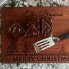 Personalized Mahogany Holiday Cutting Board