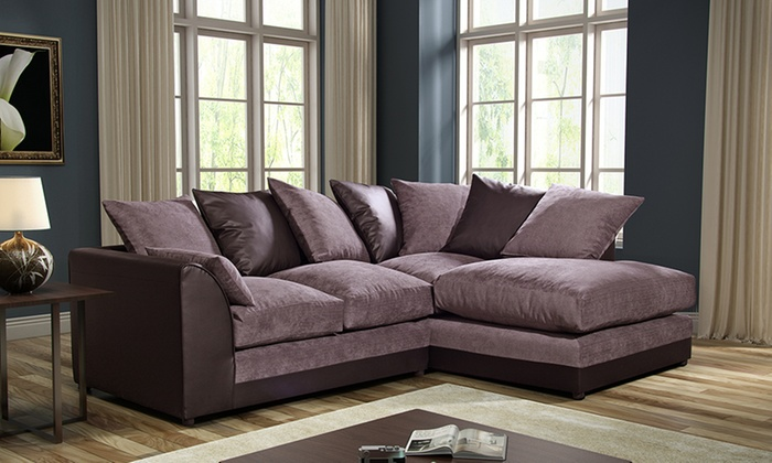 Byron Left-Hand Or Right-Hand Fabric Corner Sofa For £269 With Free Delivery (55% Off)