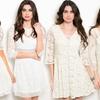 Women's Winter White Lace Dresses