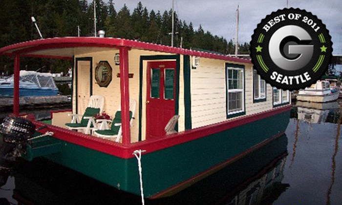 Houseboats for Two - Quilcene Bay-Brinnon: Two-Night Stay for Two in a Standard or Luxury Houseboat at House Boats in Brinnon (Up to Half Off)