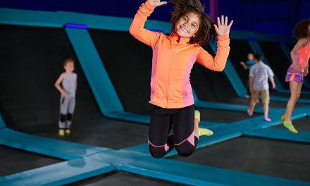 2-Hr Trampoline and Ninja Course Entry: 1 ($14) or 4 Ppl ($52) at Sky High Indoor Trampoline Park (Up to $72 Value)