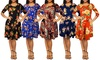 Floral T-Shirt Dress with Side Pockets. Plus Sizes Available.
