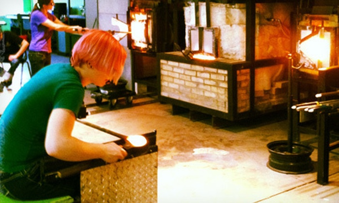 J & C Glass Studio - Glenville: $40 for a Four-Hour Glass-Blowing Party at J & C Glass Studio ($80 Value). 10 Dates Available.