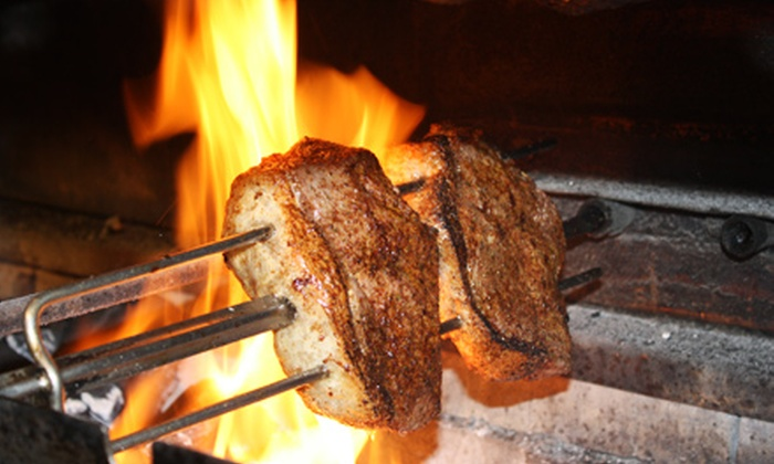Rafain Brazilian Steakhouse - Far North Dallas: $59 for Brazilian Steakhouse 3-Course Feast for Two with Two Coffees at Rafain Brazilian Steakhouse ($91.98 Value)
