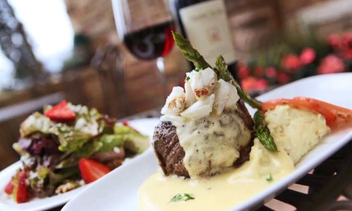 Vineyard Steakhouse & Skybar - Grapevine: Steak Dinner, or Steak Dinner for Four or More at Vineyard Steakhouse & Skybar (Up to 46% Off)