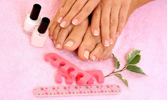 Monarch Nails and Spa - Davie: One Traditional or Shellac Mani-Pedi at Monarch Nails and Spa (Up to 35% Off)
