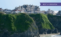 Cornwall: 1 or 2 Nights for Two with Breakfast, Cream Tea, Glass of Prosecco and Spa Access at Hotel Victoria