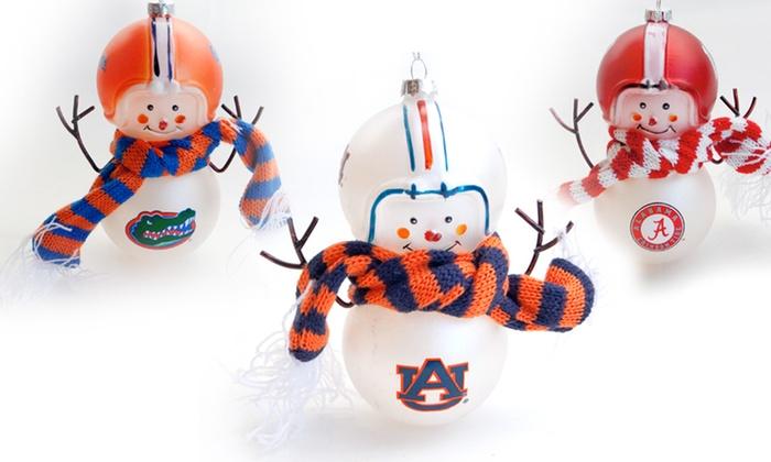 NCAA Hand Blown Snowman Ornaments: NCAA Hand Blown Snowman Ornaments. Multiple Teams Available. Free Returns.