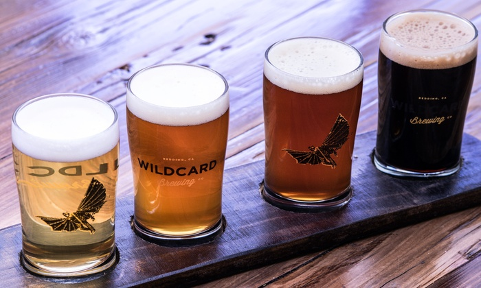 Wildcard Brewing Company - Redding: Sampler Beer Flight for Two or Four at Wildcard Brewing Company (Up to 47% Off)