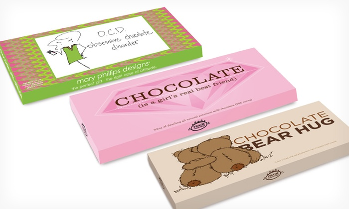 Mother's Day Chocolate Bundle: $24.99 for a Mother's Day Chocolate-Bar Bundle ($49.90 List Price). Free Shipping.