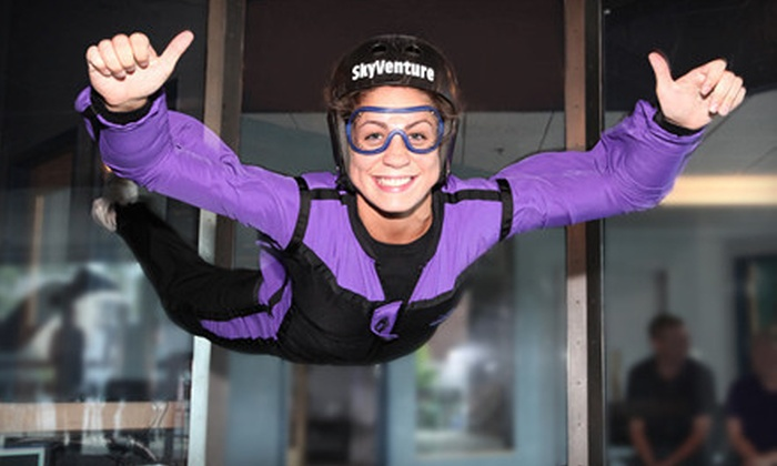Indoor Skydiving Experience for 1 or 2 £22 instead of up to £ for an indoor skydiving experience for one person, £40 for two people at Twinwoods Adventure, Bedford - save up to 45%.