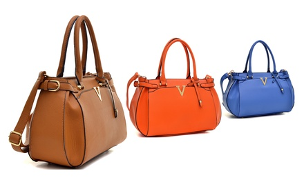 Dasein Satchel with Shoulder Strap