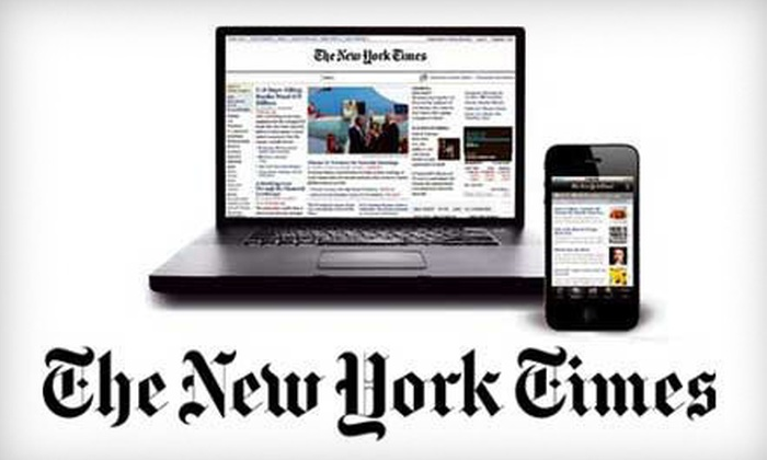 """""""The New York Times"""": $48 for a 26-Week Digital Subscription to """"The New York Times"""" (a $97.50 Value)"""