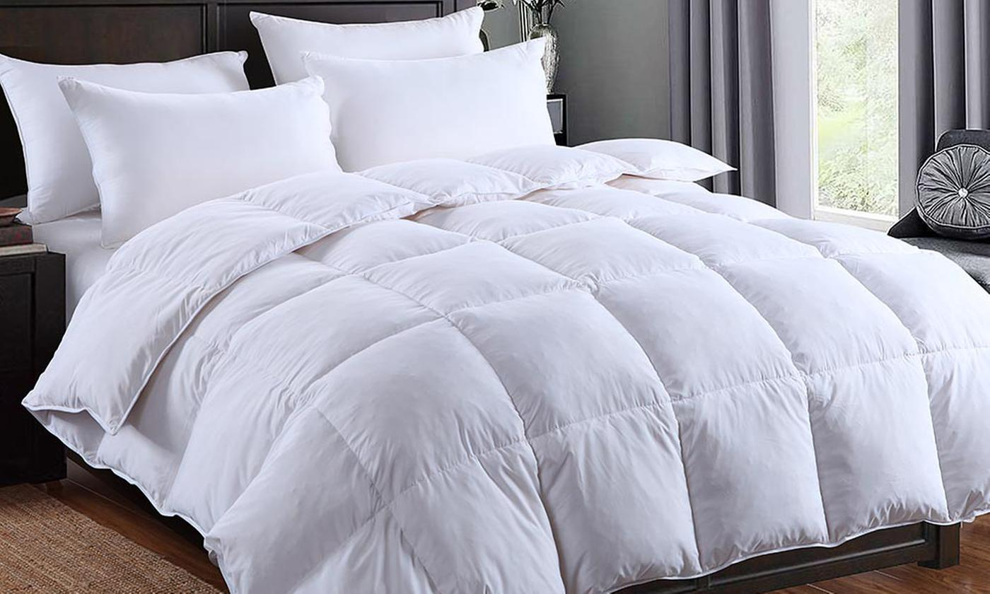 Dickens 13.5  or 15 Tog Silver-Piped Winter Warm Goose Feather and Down Duvet for £17.99