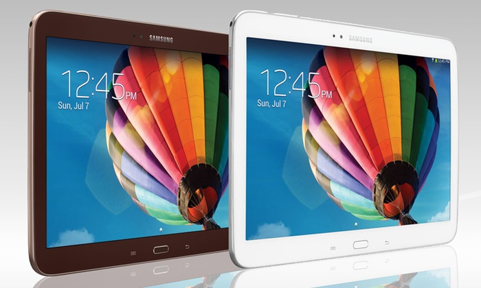 """Samsung 10.1"""" Galaxy Tab 3: Samsung 10.1"""" Galaxy Tab 3 with 16GB Memory in Gold-Brown or White (Manufacturer Refurbished). Free Returns."""